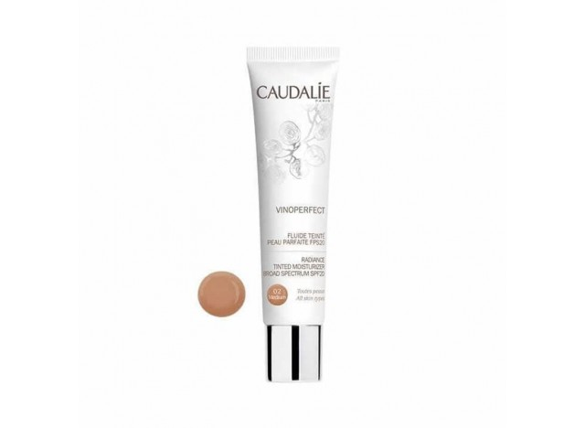 Caudalie Vinoperfect Fluido Color Piel Perfecta Medium 02 SPF20 40 ml