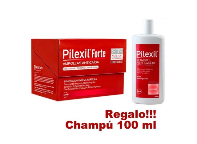 Pilexil Pack Forte Anticaída Ampollas 20x5 ml + Champú Anticaída 100 ml