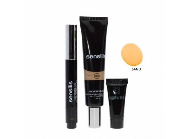 Sensilis Basic 2 Steps Neverending Make Up 04 Sand SPF15 30ml + Corrector 4.5ml