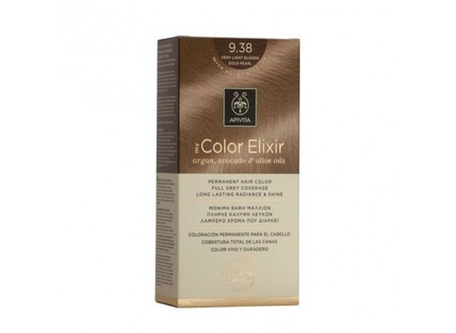 Apivita Color Elixir 9.38 Very Light Blonde Gold